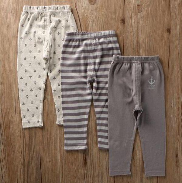 3 pcs Lot children's wear boys' classic navy style pants four seasons thin elastic cotton pants air conditioning trousers XS138