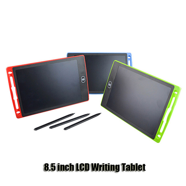 best selling 8.5 inch Writing Tablet Drawing Board Blackboard Handwriting Pads Gift for Kids Paperless Notepad Tablets Memo With Upgraded Pens DHL