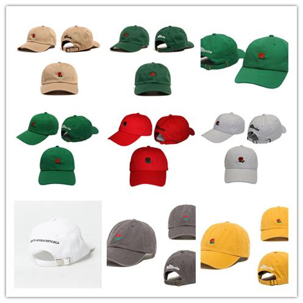 Cheap 2018 New Fashion Snapback Caps The Hundreds Rose StrapBack Baseball Cap Hat For Men Women Hiphop Hat Peaked Cap Free Shipping