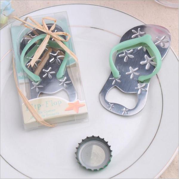wholesale-Flip flop beer bottle opener with starfish design wedding favor gift wedding giveaways for guest fashion