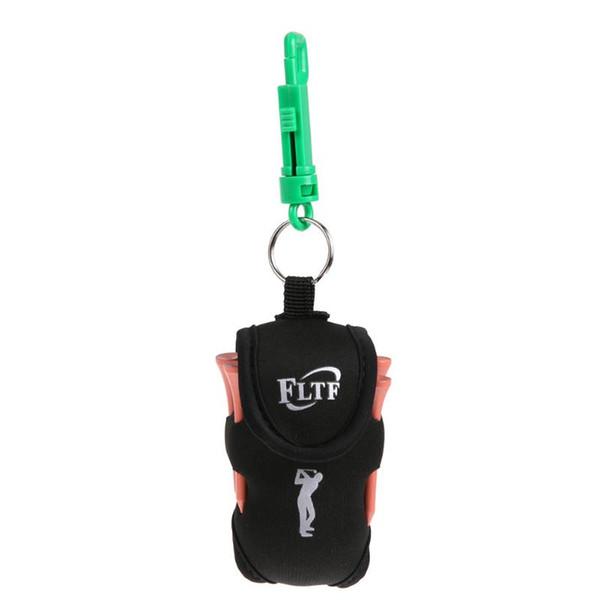 Mini Portable Clip On Golf Ball Holder Pouch Bag Hold 2 Balls Golfer Tool