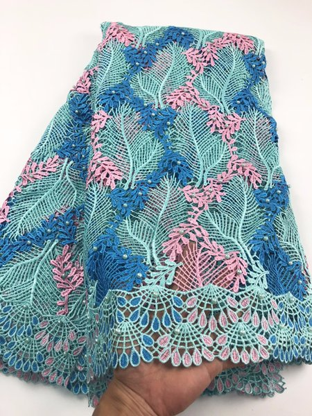 High quality nigerian wedding african lace fabrics/most popular guipure cord lace fabric for wedding dress A730