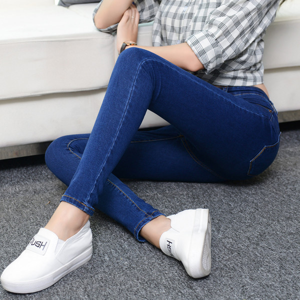 Jeans for women Jeans With High Waist Woman High Elastic plus size Women femme washed casual skinny pencil pants