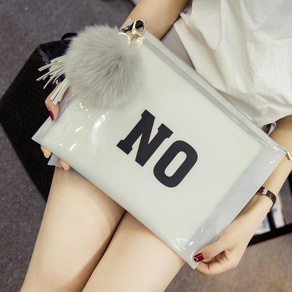 women transparent clutch bag plastic jelly hand bags envelope evening clutch bag tassel crysta beach sac a main leisure wristlet