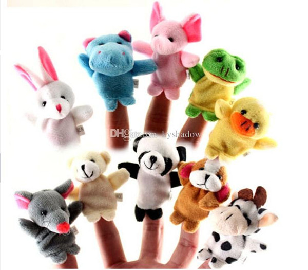 best selling In Stock Unisex Toy Finger Puppets Finger Animals Toys Cute Cartoon Children's Toy Stuffed Animals Toys