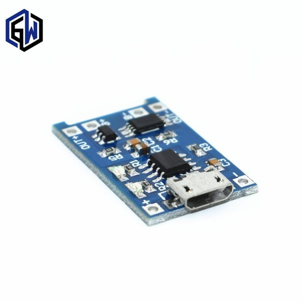 1 PCS 5 V TENSTAR ROBÔ 1A Micro USB 18650 Módulo de Carregador da Placa de Carregamento Da Bateria de Lítio + Proteção Dupla Funções TP4056
