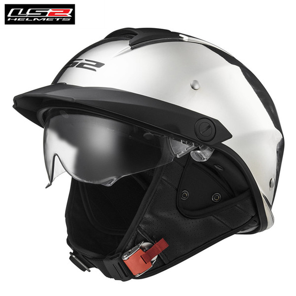 LS2 Rebellion Motorcycle Half Helmet Vintage Retro Scooter Casques Capacete Chopper Cruiser Harley OF590 HH590