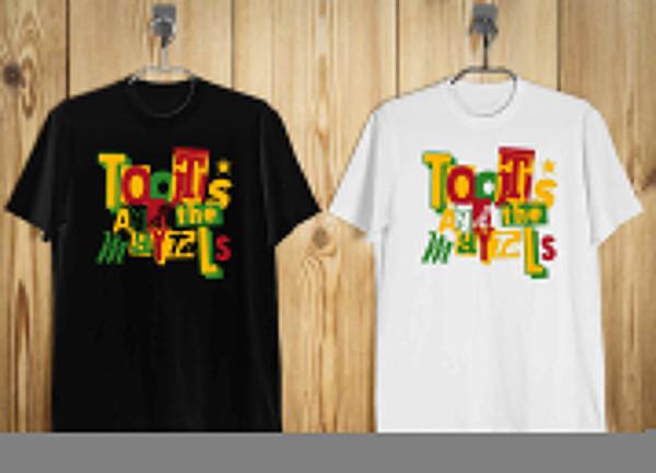 Yeni Toots ve Maytals Reggae Logosu erkek T-Shirt Siyah Beyaz S-2XL