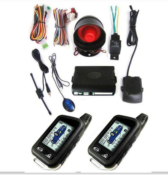 top popular CarBest New Vehicle Security Paging Car Alarm 2 Way LCD Sensor Remote Engine Start System Kit Automatic | Car Burglar Alarm System 2021