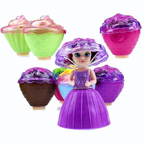 LeadingStar Surprise Cupcake Princess Doll Deformable Dolls Girl Birthday Gift Cake Toys - 1pc