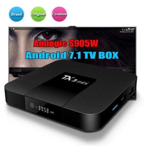Amlogic S905W TX3 Mini 1GB 8GB TV Box Четырехъядерный Android 7.1 ТВ потоковые боксы TX3-mini лучше, чем H96 X96 T95 Android TV Box