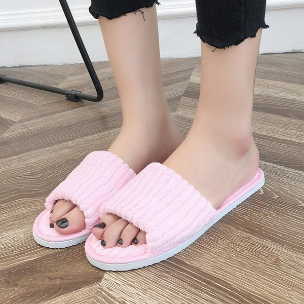MUQGEW 2018 Autumn And Spring Home Indoor Slipper Women Lover Floor Shoe Cotton Female Home Slippers chaussures femme