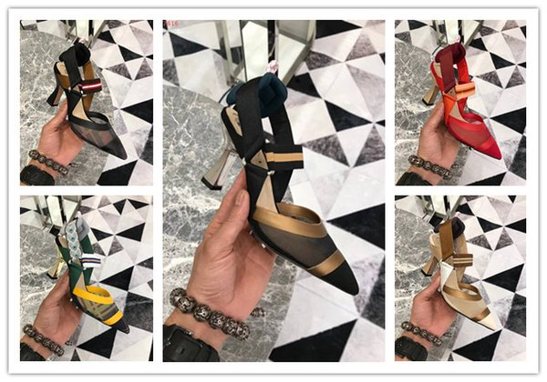 Top quality Women Summer Low Heels Dress shoes Genuine Leather Lady Pumps sweet party wedding shoes pointed toes sandals