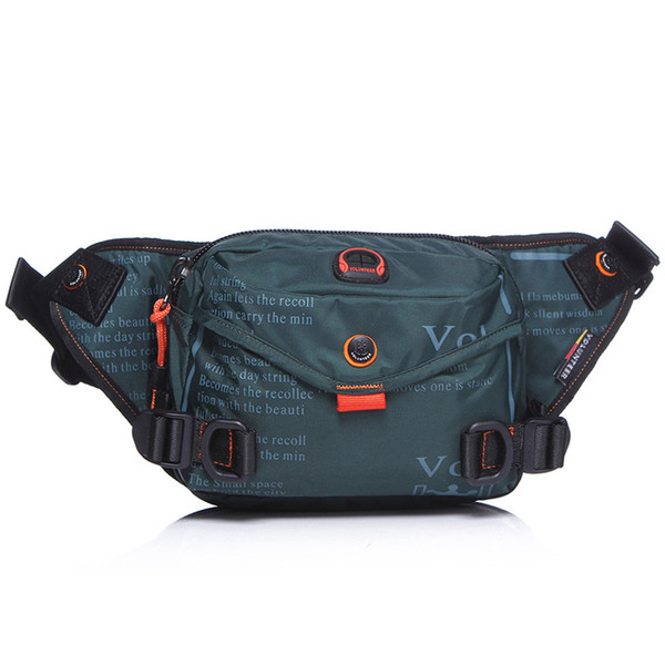 2018 new men's chest bag outdoor sports running waterproof Oxford cloth Messenger bag multi-purpose canvas bag