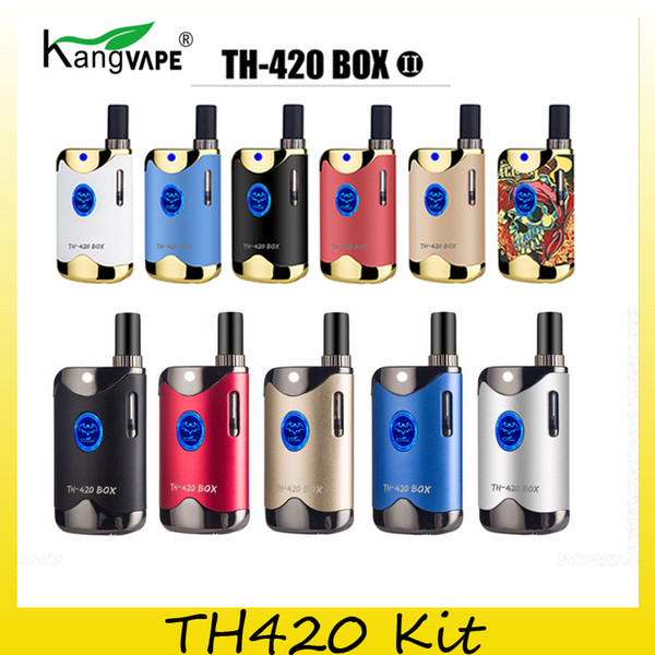 Authentic Kangvape TH420 II Starter Kit With 650 mAh Battery TH-420 2 Vape Box Mod For Thick Oil Cartridge Atomizer 100% Original