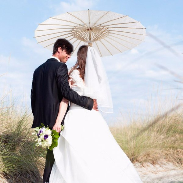 White Paper Umbrella for Wedding Decoration Wedding Party Umbrellas Sun Parasol Umbrellas Bridal Accessories Party Supplies