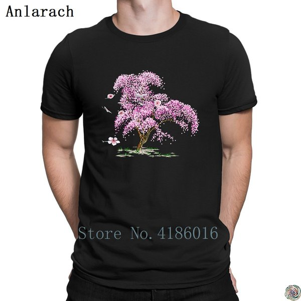 Steampunk Cherry Tree t-shirt solid color great Creative Spring Autumn tshirt for men Great summer top big sizes Letter