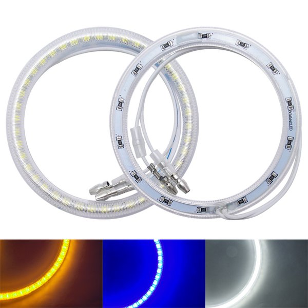 2pcs/set Auto SMD Angel Eyes Light Halo Ring For Cheverolet Lacetti Hatchback Headlight 3-Color #974