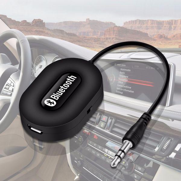 Haute Qualité Mini 3.5mm Voiture A2DP Sans Fil Bluetooth Kit De Voiture AUX Audio Récepteur De Musique Adaptateur Mains Libres avec Mic Pour