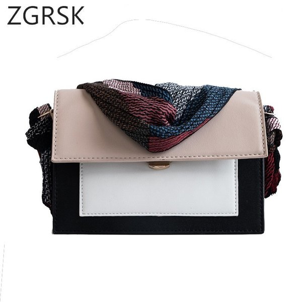 Pu Leather Design Crossbody Bag Korean Women Bag Casual Fashion Girls Ribbon Colorful Strap Shoulder Female Small Flap