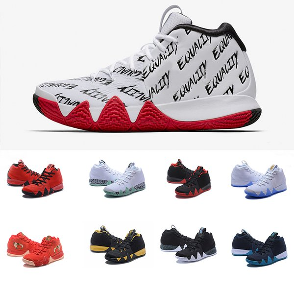 outlet store 71db4 816b3 Cheap Whit Box 2018 Newest Kyrie 4 Basketball Shoes Bhm Confetti Obsidian  Kyrie Irving 4s Iv Men Basketball Sneakers Sports Shoes 40 46 Shoes  Sneakers ...