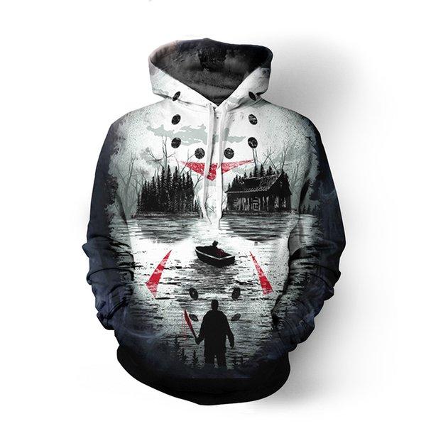Friday 13th 3D All Over Printed Hoodies Sweatshirt Hipster Street Wear Hip Hop Top Kid Men Women US Size Dropship