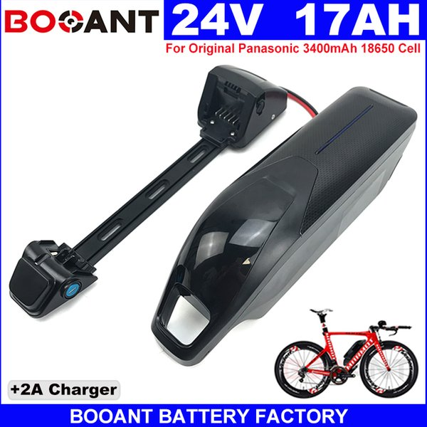 with USB +Switch Rechargeable E-bike Lithium battery 7S 24V 17AH Electric bike Lithium battery for Bafang BBSHD 350W 500W Motor