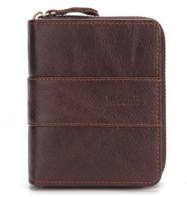 Echtes Leder Brieftaschen Männer Brieftaschen Kupplung Mode Kurze Geldbörse Vintage Brieftasche Rindsleder Kartenhalter Münztüte