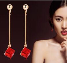 Estilo caliente americanos y europeos accesorios de moda pendientes mujeres en Corea del Sur pendientes de moda clip novia boda accesorios moda cl
