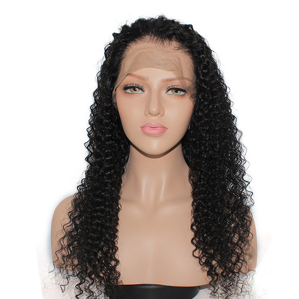 2018 10a grade pretty beauty aaaaaaa 100% unprocessed remy virgin human hair natural color long afro curly full lace wig for women