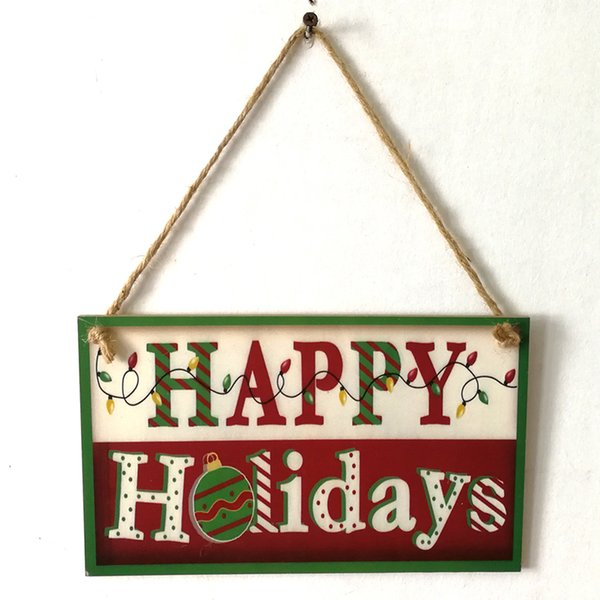 Merry Christmas Ornament Sign.Wooden Happy Holiday Hanging Board Merry Christmas Wood Sign Plaque Home Shop Art Decoration Handmade Rustic Xmas Gift Mexican Christmas Decorations