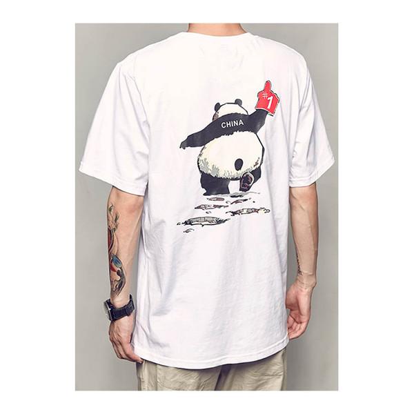 01867fe6e6b814 Männer Straße Sommer Neue Panda Print Kurzarm T-Shirt Männer Trend Sommer  Kleidung Jugend Paar