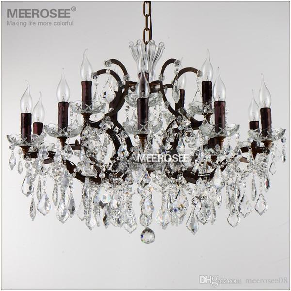 Loft de Cristal do vintage Luminária Retro Lustres Rústicos Ligts Luminária 15 Braços Pendurados Gota Lâmpada para Casa Sala de estar