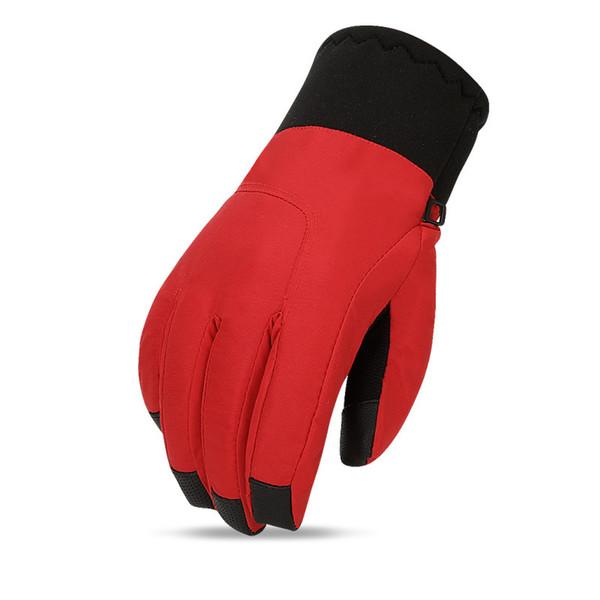 Winter Thermal Ski Mountaineering Gloves Men Women Touch Screen Thicken Gloves Windproof Waterproof Skiing Motorcycle Glove