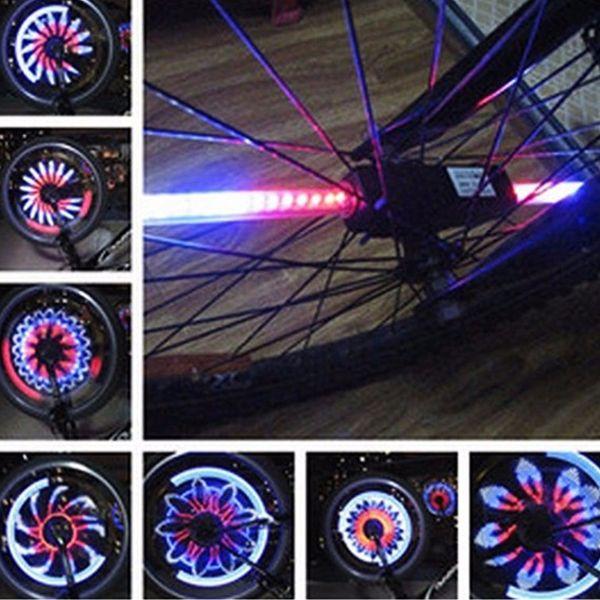 2018 New Bicycle Light 32/64 LED Flash Waterproof Cycling Mountain Road Bike Lamp Tire Wheel Light 18 Mode For Bike Spokes