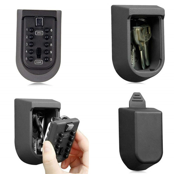 top popular Outdoor Combination Wall Mounted Key Box Safe Hide Lock Security Storage Box 2021