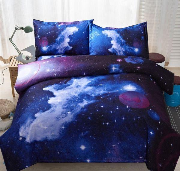 YMQY Marca 3D Nebala Outer Space Star Galaxy Bedding Set Copripiumino Lenzuolo Piatto Plaid Federa Queen Twin Size Set Letto