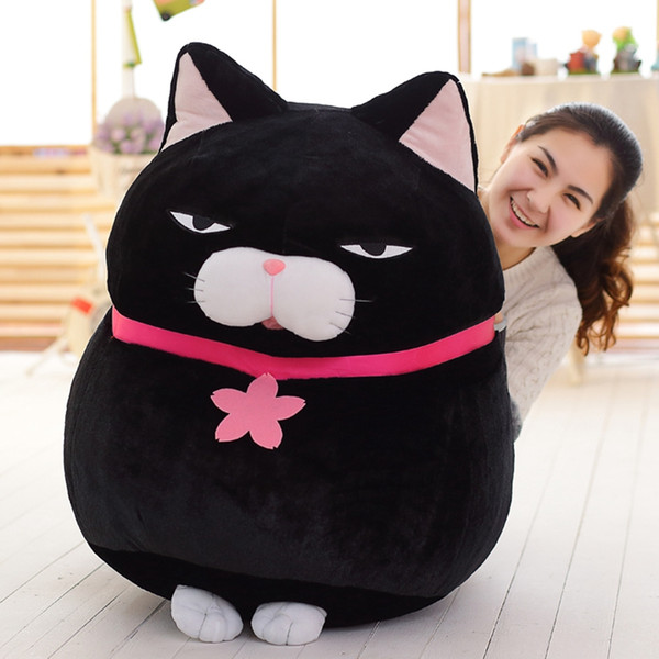 Dorimytrader Jumbo Japan Anime AMUSE Cat Toy Soft Plush Cartoon Giant Cats Doll Gift 3 Colors Great Gift Decoration 31inch 80cm DY61119