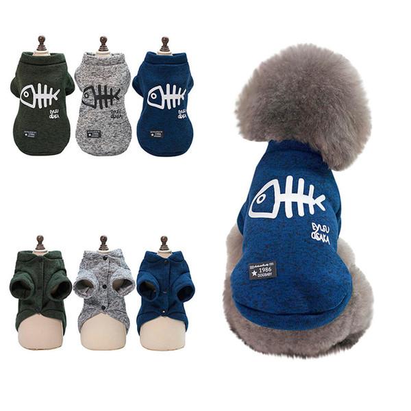 2018 Autumn Winter Warm Cotton Pet Dog Woolen Sweater Puppy Knitwear Clothes Hoodie Winter Warm Turtleneck Cat Apparel Free Shipping
