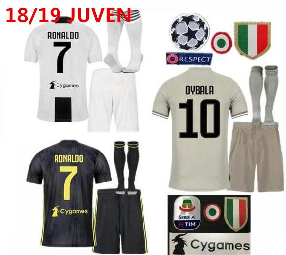 separation shoes 3480a 5970f 2019 JUVENTUS Soccer Jersey Full Kit With Socks 2018/19 CR7 DYBALA  MARCHISIO MANDZUKIC PJANIC Football Uniform Sales From Messisport01, $18.28  | ...