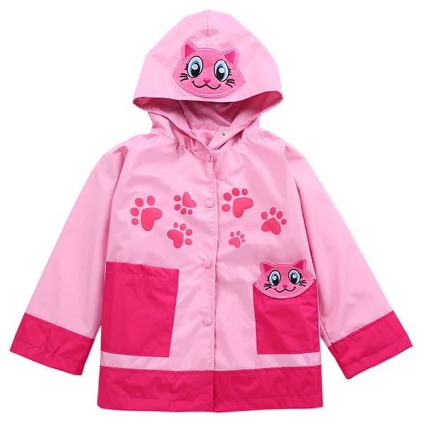 fashion kids outdoor jacket coat European animal style waterproof trench coat for 1-6years children boys girls raincoat jacket costume