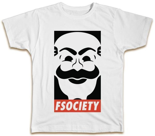 FSociety Футболка Mr Robot Mask Elliot Телепередача Лучший подарок в подарок