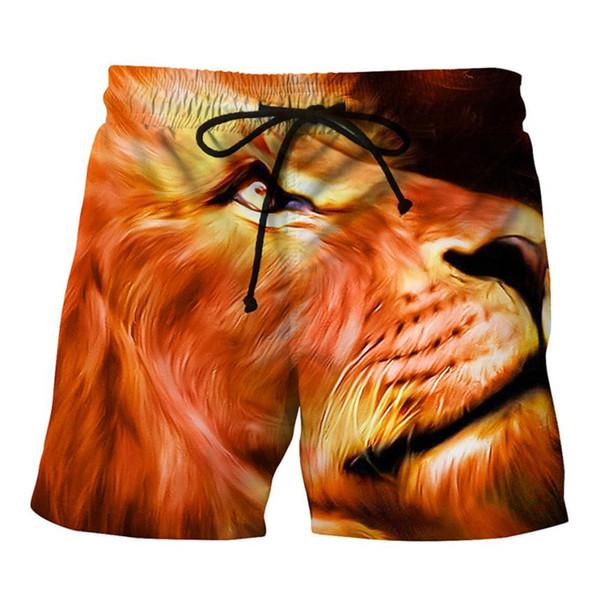 Womail mens swim trunks Lion Printed Beach swimming trunks for swimming Summer Beach Shorts men's swimwear traje de bano hombre
