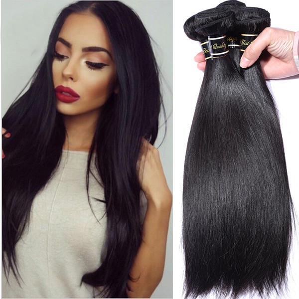 Peruvian Straight Hair Weaves 100% Unprocessed 8A Quality Human Hair Extensions Dyeable 3 bundles/lot No shedding No Tangle