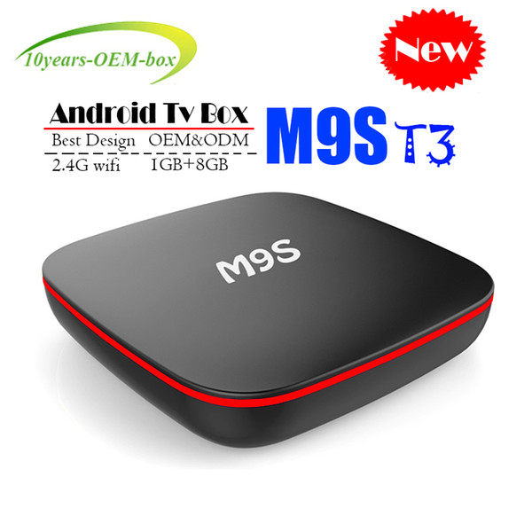 2018 Cheapest M9S T3 Allwinner H3 Quad Core 1GB DDR3 8GB EMMC Smart Android TV BOX 2.4G WIFI 4K*2K Android Media Player Better TX3 TX2 TX9