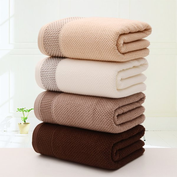 LYN&GY Brown White Soft Absorbent 100% Cotton Solid Honeycomb Bath Towels Beach Towel For Adults toalha de banho serviette de