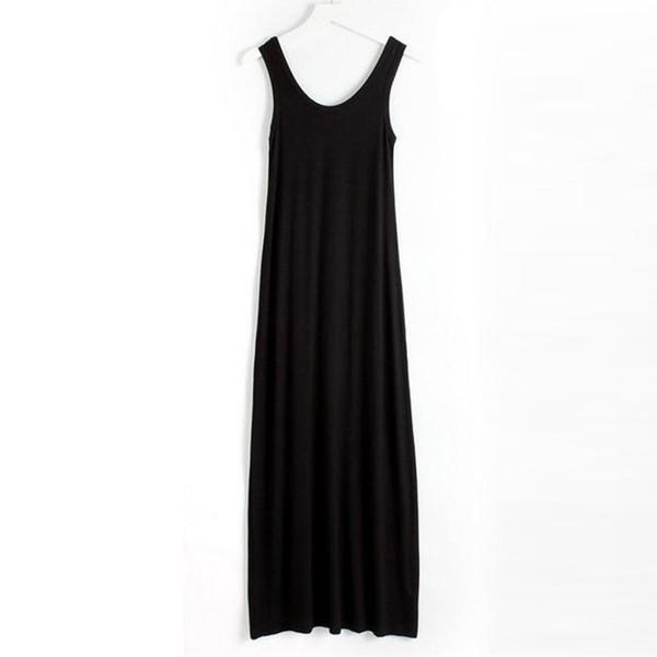 2018 New Women's Dress Floor-length Casual Summer Camisole Dress Modal Loose Big Size 16 Colors WQW138