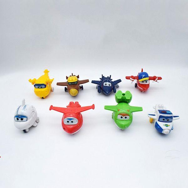 Plástico Super Asas Action Figure Deformável Brinquedo 8 Peça Set Mini Dos Desenhos Animados Crianças Brinquedos Para Assar Ornamento Presente 14 5sy UU