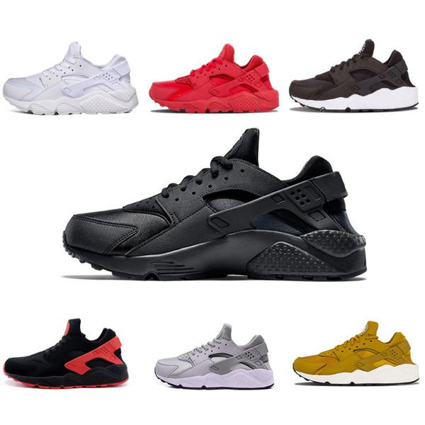 Compre Nike Air Huarache Shoes 2018 Huarache I Zapatillas De Running Hombre Mujer Zapatos Deportivos Triple Negro Blanco Oro Huraches 1.0 Zapatillas