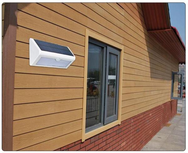 Capteur de lumière à LED à l'extérieur du mur à LED avec lampe de jardin ABS + PC couverture 600lm ampoule étanche